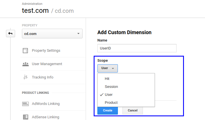 custom dimension settings