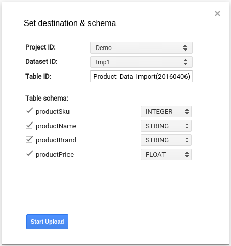 Can I send data from Google Sheets into Google BigQuery